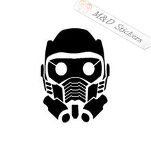 2x Guardians of the Galaxy Star Lord Mask logo Vinyl Decal Sticker Different colors & size for Cars/Bikes/Windows