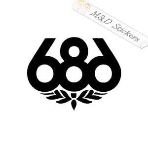 2x 686 skateboards Logo Vinyl Decal Sticker Different colors & size for Cars/Bikes/Windows