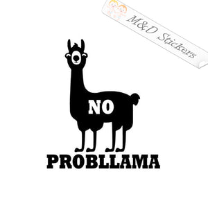 2x No probllama Lama Vinyl Decal Sticker Different colors & size for Cars/Bikes/Windows