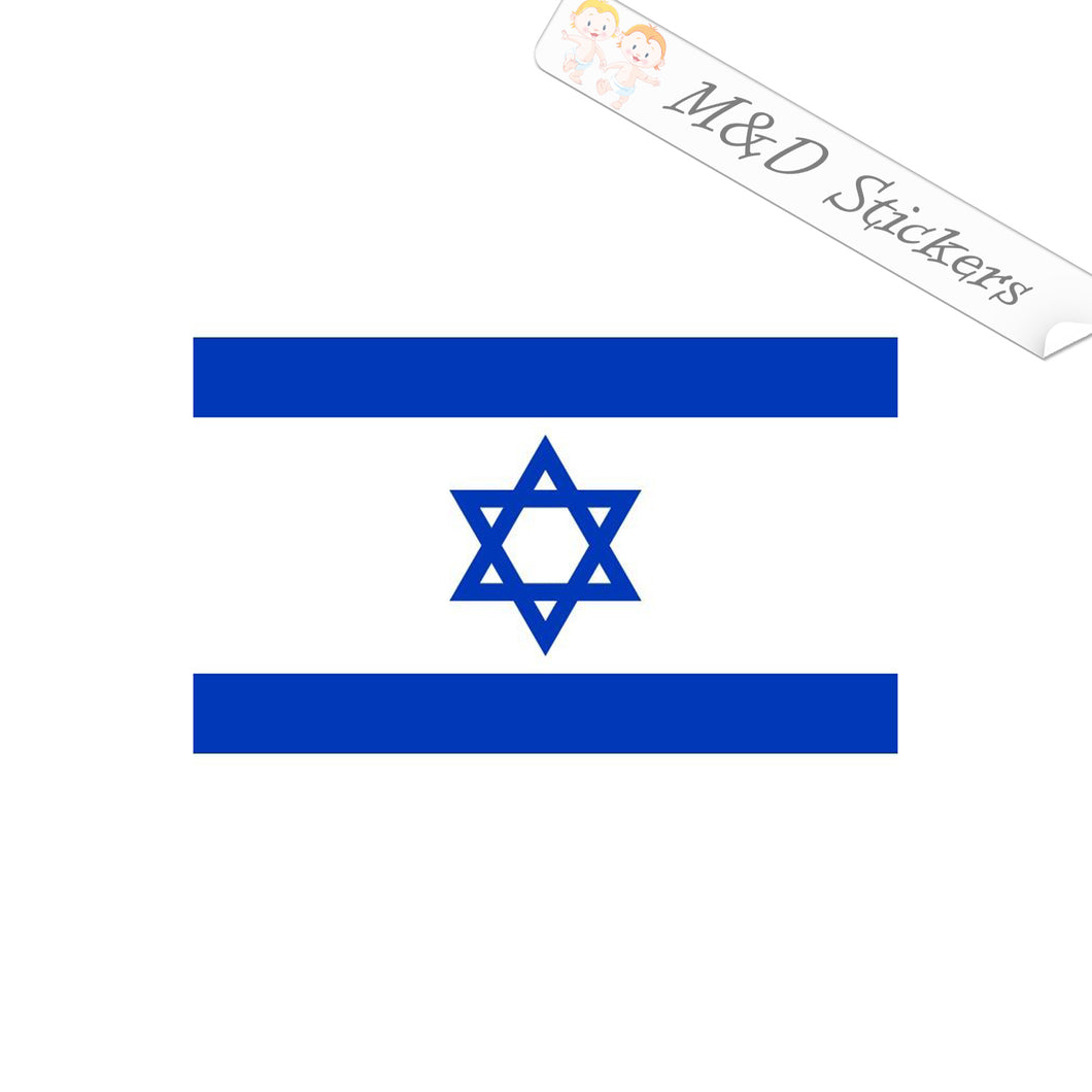 2x Israel flag Vinyl Decal Sticker Different colors & size for Cars/Bikes/Windows