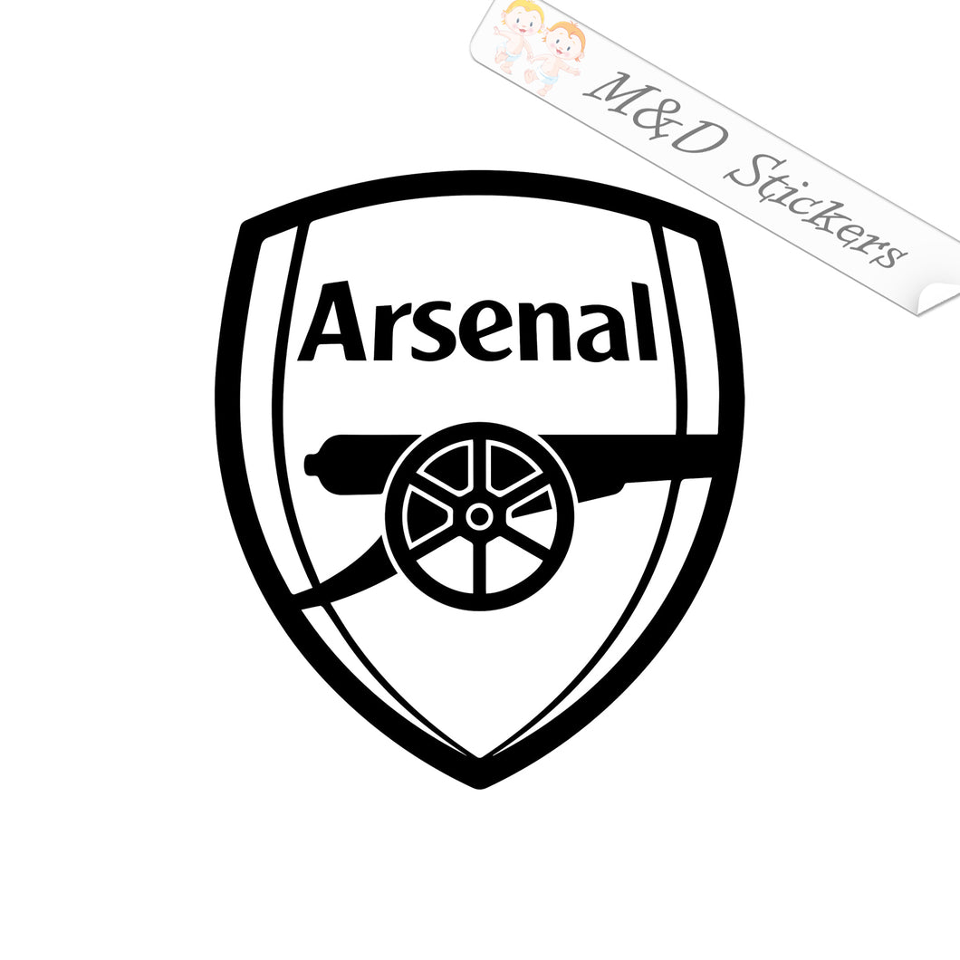 2x English PL Arsenal London Football Club Soccer Vinyl Decal Sticker Different colors & size for Cars/Bikes/Windows
