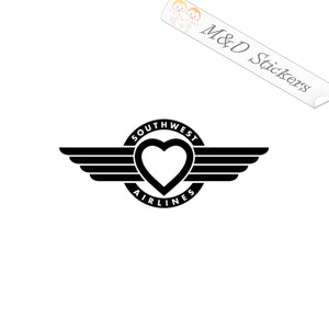 2x Southwest airlines Logo Vinyl Decal Sticker Different colors & size for Cars/Bikes/Windows