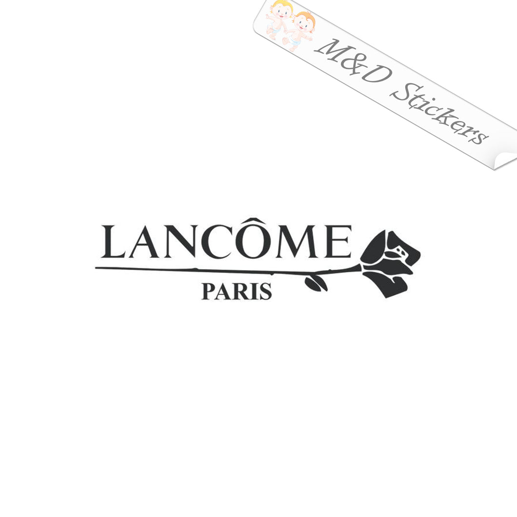 2x Lancome Paris Rose Logo Vinyl Decal Sticker Different colors & size for Cars/Bikes/Windows