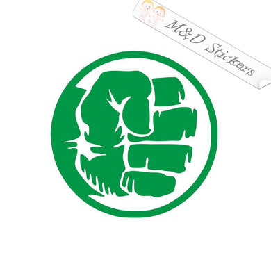 2x Hulk fist Vinyl Decal Sticker Different colors & size for Cars/Bikes/Windows