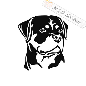 2x Rottweiler Dog Vinyl Decal Sticker Different colors & size for Cars/Bikes/Windows