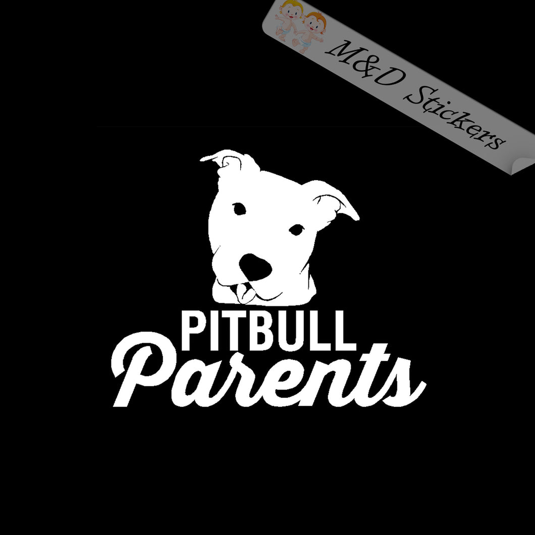 2x Pittbull parents Dog Vinyl Decal Sticker Different colors & size for Car/Bike