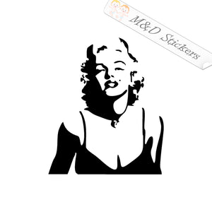 2x Marilyn Monroe Vinyl Decal Sticker Different colors & size for Cars/Bikes/Windows