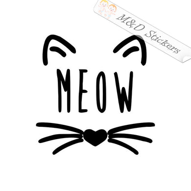 2x Meow Vinyl Decal Sticker Different colors & size for Cars/Bikes/Windows