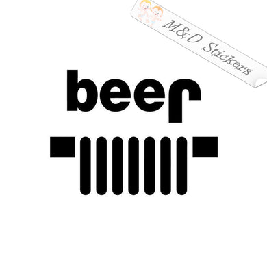 2x Jeep - beer Vinyl Decal Sticker Different colors & size for Cars/Bikes/Windows