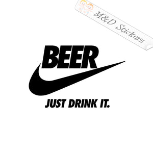 2x Nike - Beer Logo Vinyl Decal Sticker Different colors & size for Cars/Bikes/Windows