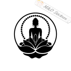2x Buddha Buddah Sign Vinyl Decal Sticker Different colors & size for Cars/Bikes/Windows