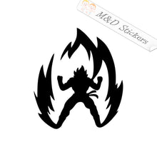 2x Goku Dragonball Z in Flame Vinyl Decal Sticker Different colors & size for Cars/Bikes/Windows