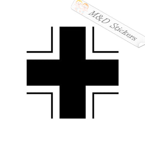 2x German Army WW2 Iron Cross Vinyl Decal Sticker Different colors & size for Cars/Bikes/Windows