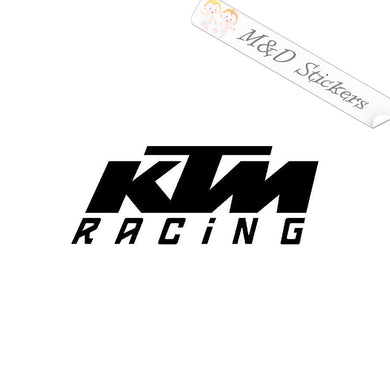 2x KTM Racing Logo Vinyl Decal Sticker Different colors & size for Cars/Bikes/Windows