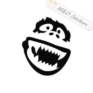 2x Yeti Bigfoot Vinyl Decal Sticker Different colors & size for Cars/Bikes/Windows