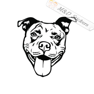 2x Pittbull Head Dog Vinyl Decal Sticker Different colors & size for Cars/Bikes/Windows