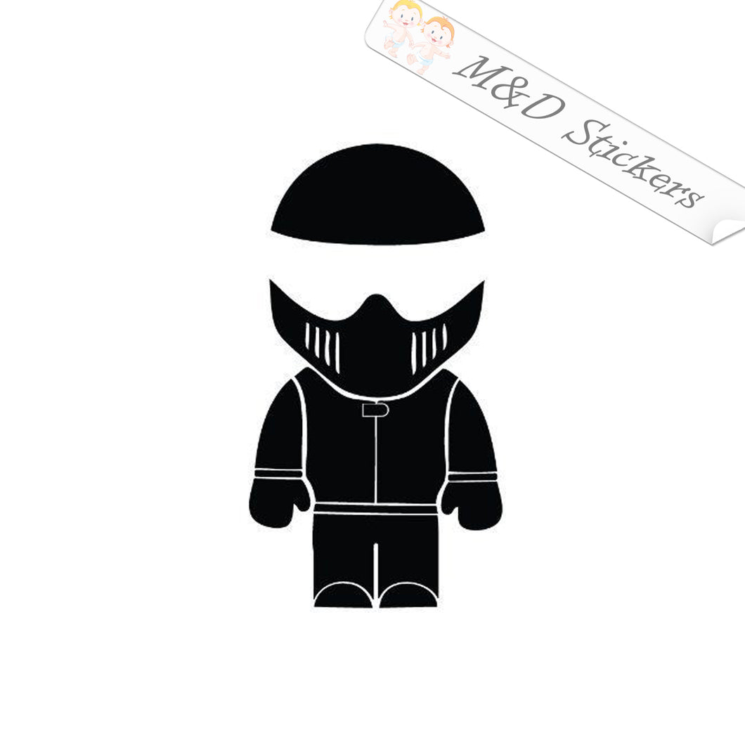 2x Stig Vinyl Decal Sticker Different colors & size for Cars/Bikes/Windows