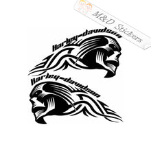 2x Harley Davidson skull Vinyl Decal Sticker Different colors & size for Cars/Bikes/Windows