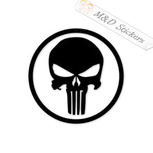 2x Punisher in a circle Vinyl Decal Sticker Different colors & size for Cars/Bikes/Windows
