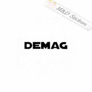 2x Demag Construction Logo Vinyl Decal Sticker Different colors & size for Cars/Bikes/Windows