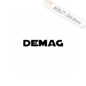 2x Demag cranes Logo Vinyl Decal Sticker Different colors & size for Cars/Bikes/Windows