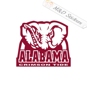 2x Alabama Crimson Tide Vinyl Decal Sticker Different colors & size for Cars/Bikes/Windows