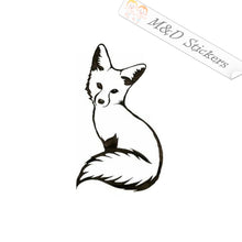 2x Fox Vinyl Decal Sticker Different colors & size for Cars/Bikes/Windows