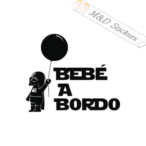 2x Baby on board Star Wars Bebe a bordo Vinyl Decal Sticker Different colors & size for Cars/Bikes/Windows