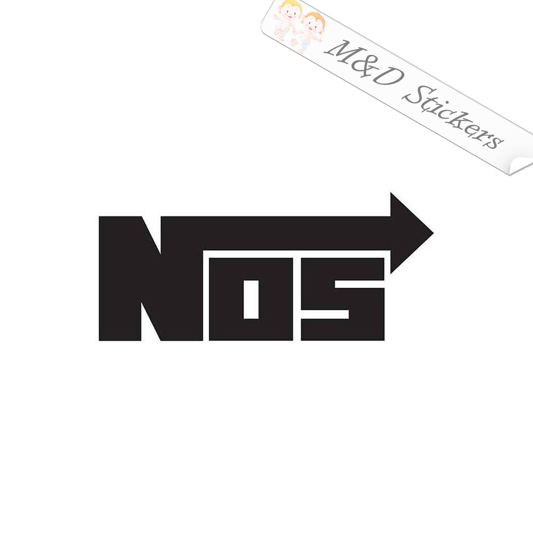 2x NOS Energy Drink Vinyl Decal Sticker Different colors & size for Cars/Bikes/Windows