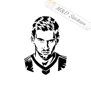 2x Lionel Messi Vinyl Decal Sticker Different colors & size for Cars/Bikes/Windows