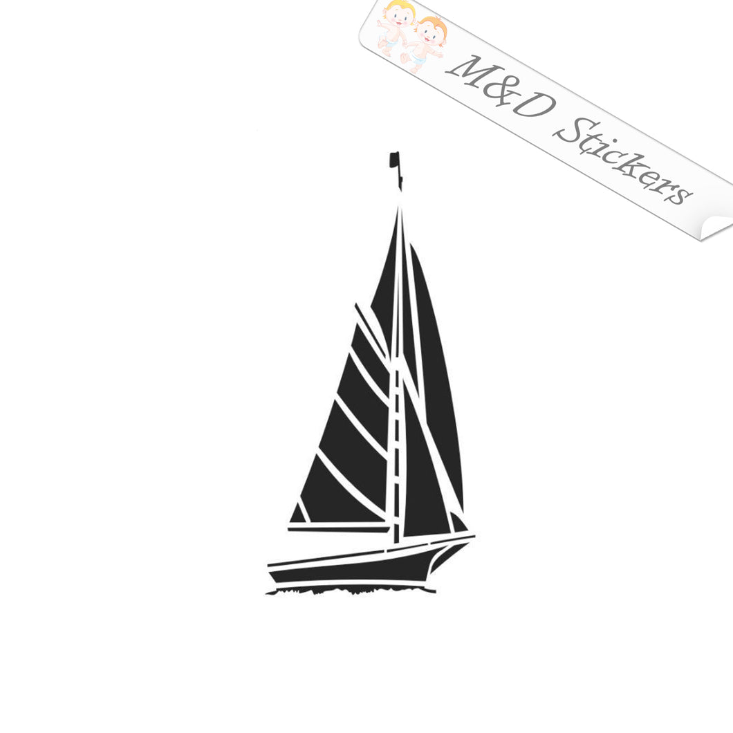 2x Yacht Vinyl Decal Sticker Different colors & size for Cars/Bikes/Windows