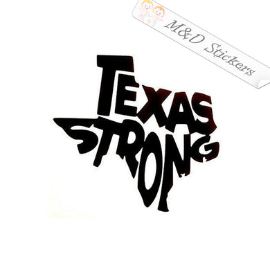 2x Texas Strong Vinyl Decal Sticker Different colors & size for Cars/Bikes/Windows