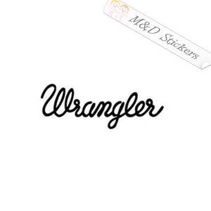 2x Wrangler Logo Vinyl Decal Sticker Different colors & size for Cars/Bikes/Windows