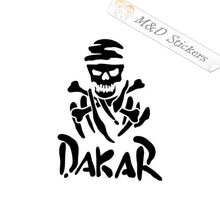 2x Dakar Rally Skull Skeleton Logo Vinyl Decal Sticker Different colors & size for Cars/Bikes/Windows