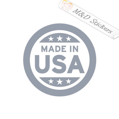 2x Made in the USA Vinyl Decal Sticker Different colors & size for Cars/Bikes/Windows
