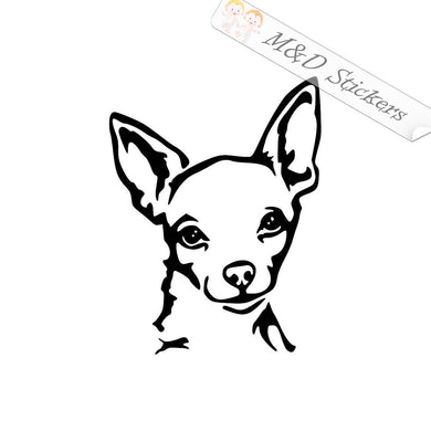 2x Chihuahua Dog Vinyl Decal Sticker Different colors & size for Cars/Bikes/Windows