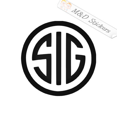 2x Sig Sauer guns Logo Vinyl Decal Sticker Different colors & size for Cars/Bikes/Windows