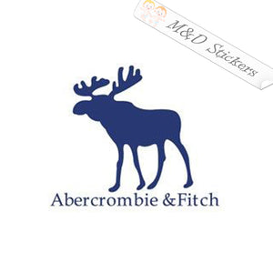 2x Abercrombie & Fitch Logo Vinyl Decal Sticker Different colors & size for Cars/Bikes/Windows