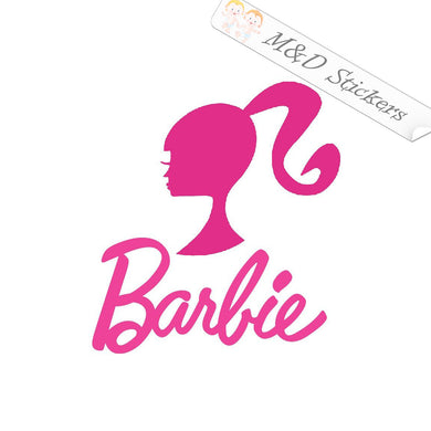 2x Barbie Vinyl Decal Sticker Different colors & size for Cars/Bikes/Windows