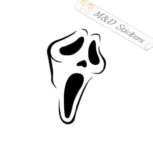 2x Scream mask Vinyl Decal Sticker Different colors & size for Cars/Bikes/Windows