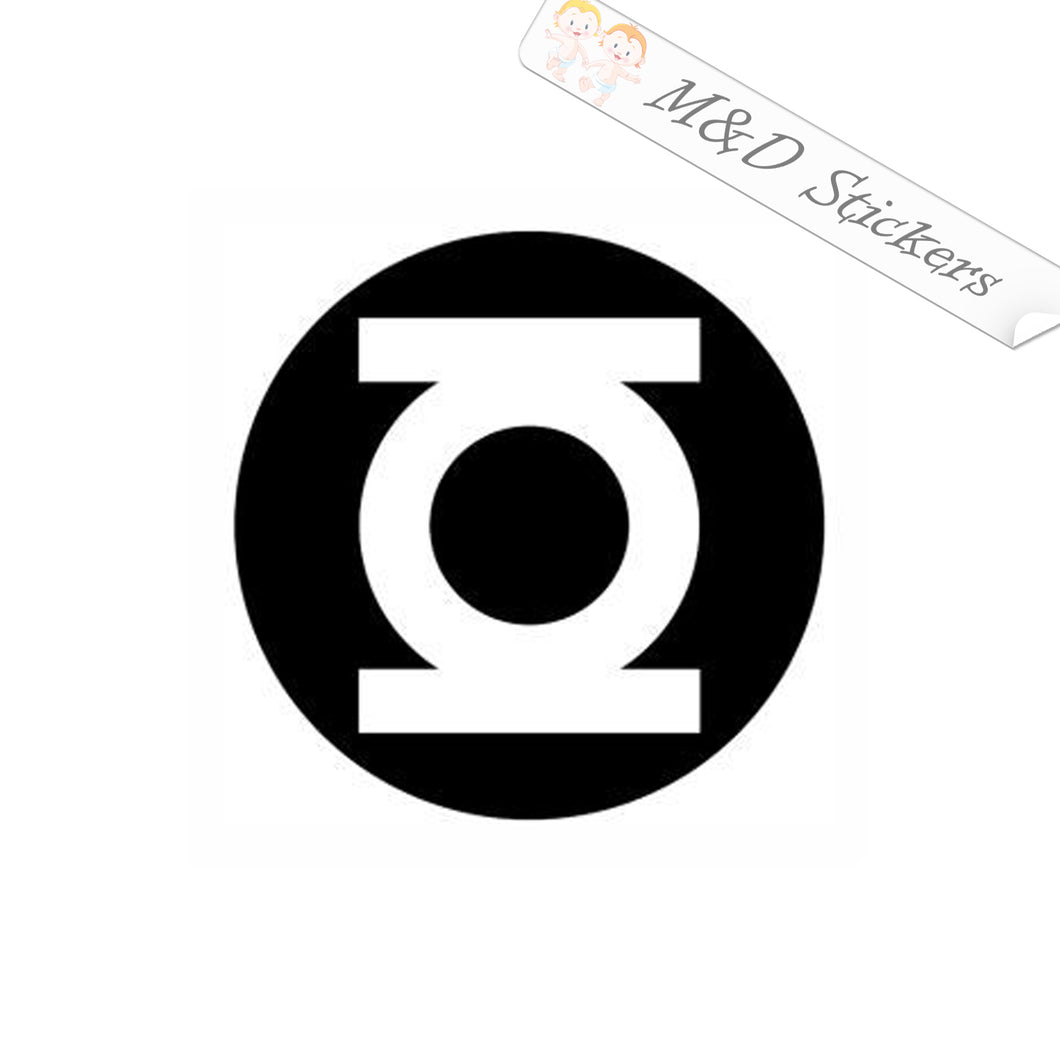 2x Green lantern logo Vinyl Decal Sticker Different colors & size for Cars/Bikes/Windows