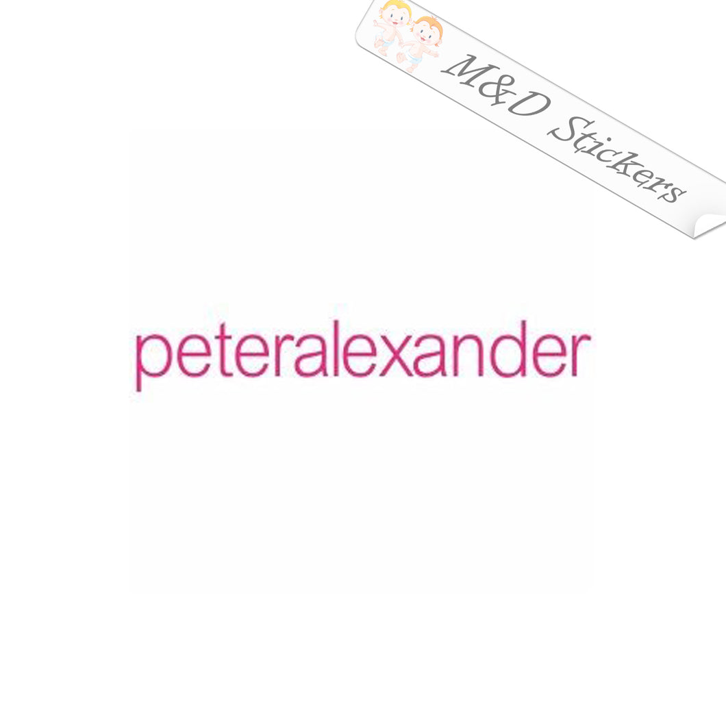 2x peteralexander Logo Vinyl Decal Sticker Different colors & size for Cars/Bikes/Windows