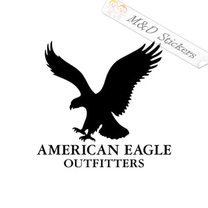 2x American Eagle Logo Vinyl Decal Sticker Different colors & size for Cars/Bikes/Windows