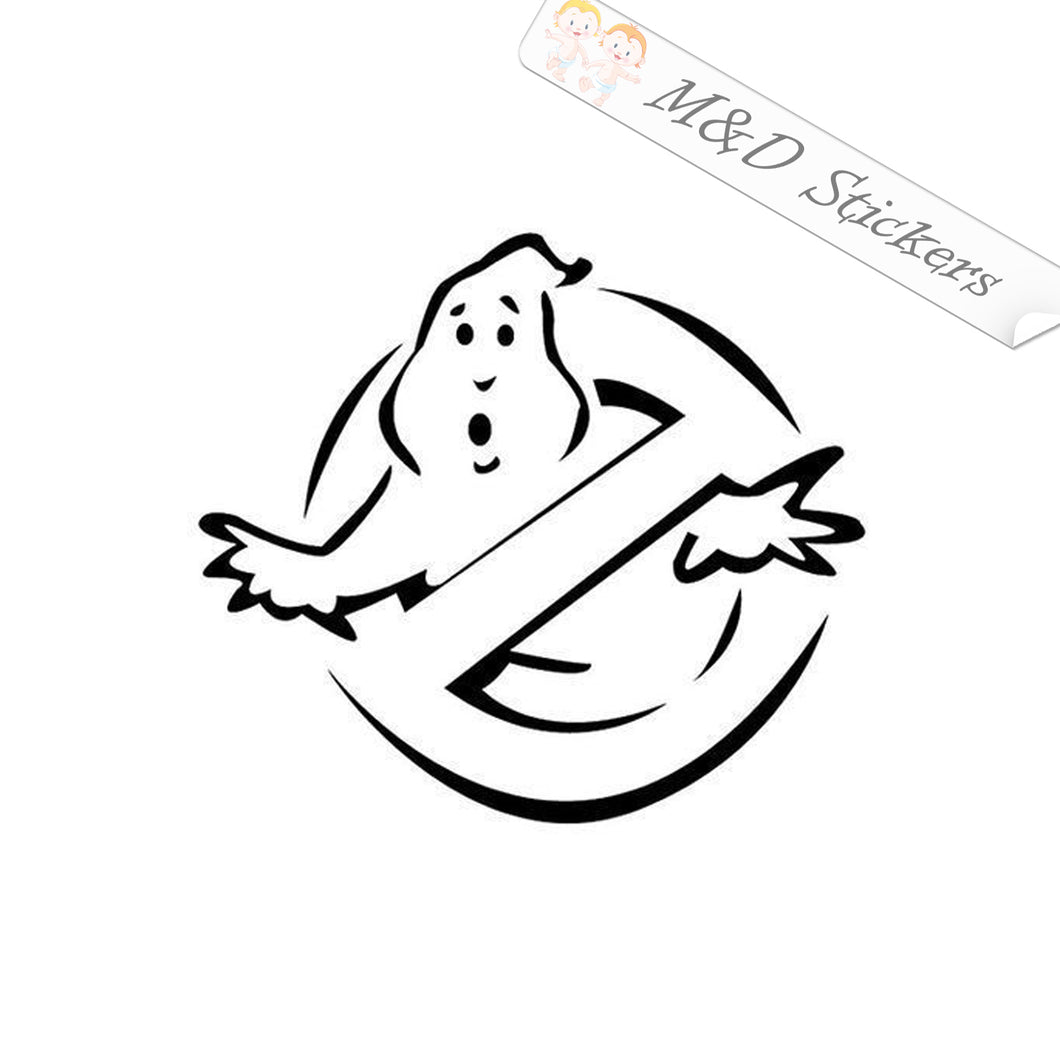2x Ghost busters Vinyl Decal Sticker Different colors & size for Cars/Bikes/Windows