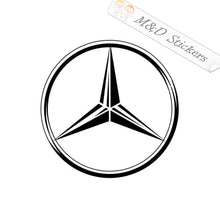 2x Mercedes Logo Vinyl Decal Sticker Different colors & size for Cars/Bikes/Windows