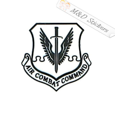 2x US Air Combat Command Logo Vinyl Decal Sticker Different colors & size for Cars/Bikes/Windows