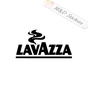 2x Lavazza coffee logo Vinyl Decal Sticker Different colors & size for Cars/Bikes/Windows