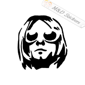 2x Kurt Cobain Vinyl Decal Sticker Different colors & size for Cars/Bikes/Windows