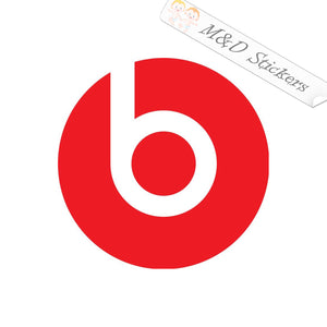 2x Beats by Dr. Dre Vinyl Decal Sticker Different colors & size for Cars/Bikes/Windows