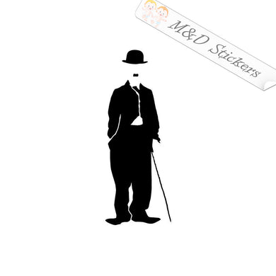 2x Charlie Chaplin Vinyl Decal Sticker Different colors & size for Cars/Bikes/Windows
